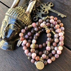 Jewelry - 🆕🆕🆕✨LACE AGATE NECKLACE/WRAP BRACELET 8mm✨